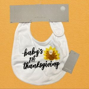 NWT Nordstrom Baby's 1st Thanksgiving Bib One Size